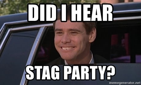 did i hear stag party? - jim carrey dumb and dumber funny
