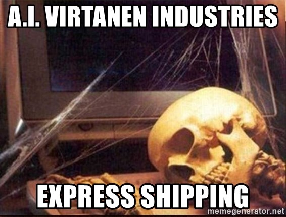 A I  Virtanen Industries Express shipping - Skeleton Waiting