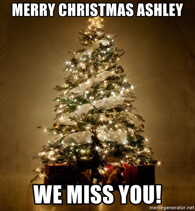 Merry Christmas Ashley We miss you! - Christmas Tree | Meme Generator