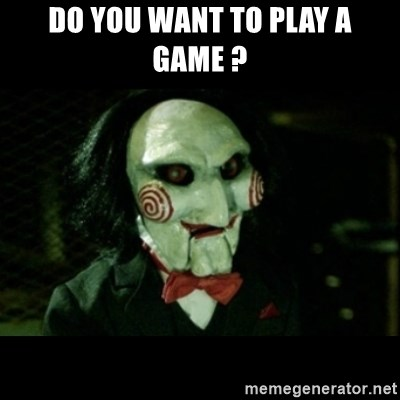 JIGSAW CREEPY PUPPET - Do you want to play a game ?