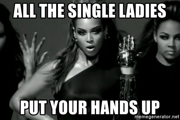 Beyonce Single Ladies - all the single ladies put your hands up