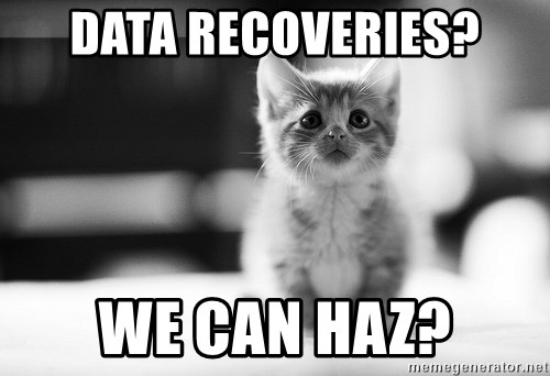I can haz results nao? - DATA RECOVERIES? WE CAN HAZ?