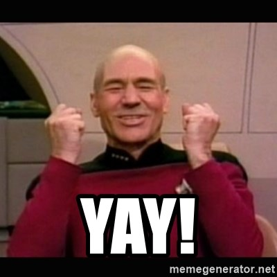 Picard yes -  YAY!