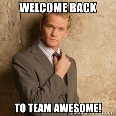 Neil Patrick Harris - Welcome Back To Team Awesome!