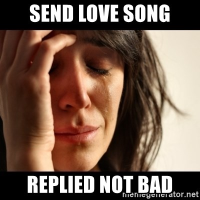 crying girl sad - SEND LOVE SONG REPLIED NOT BAD