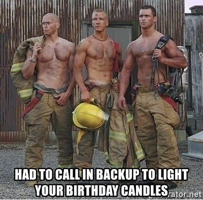 Had To Call In Backup Light Your Birthday Candles