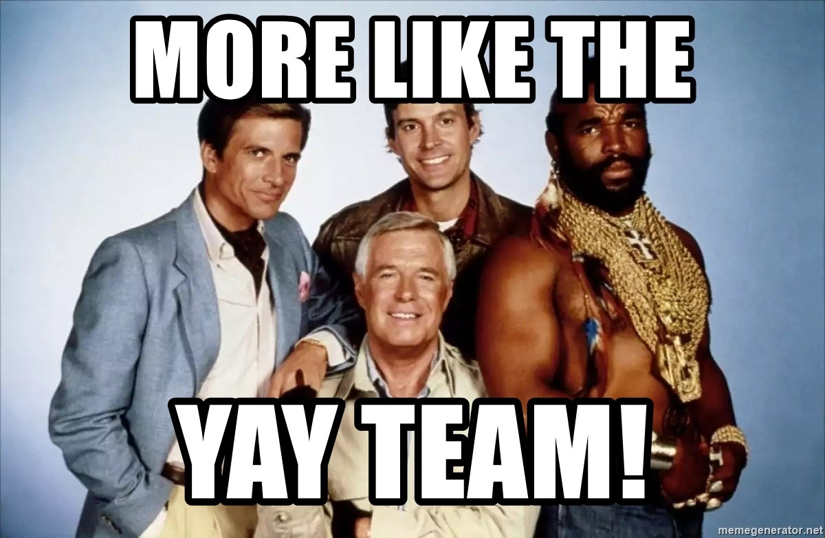 More Like The Yay Team A Team Meme Generator Find funny gifs, cute gifs, reaction gifs and more. more like the yay team a team meme