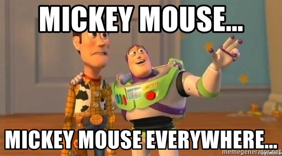 Mickey Mouse Mickey Mouse Everywhere Buzz And Woody Well Meme Generator