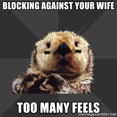 Roller Derby Otter - Blocking against your wife too many feels