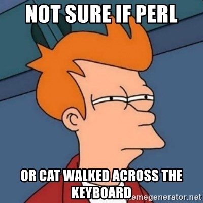 Not sure if troll - Not sure if Perl Or cat walked across the keyboard