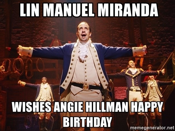Lin Manuel Miranda as Alexander Hamilton - Lin Manuel Miranda Wishes Angie Hillman Happy Birthday