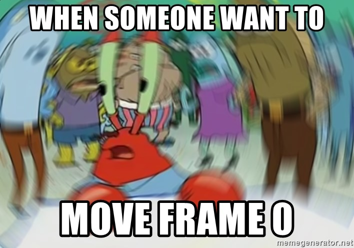 Blurry Mr Krab - WHEN SOMEONE WANT TO MOVE FRAME 0