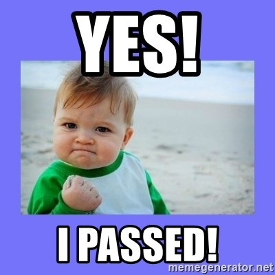 Baby fist - Yes! I passed!