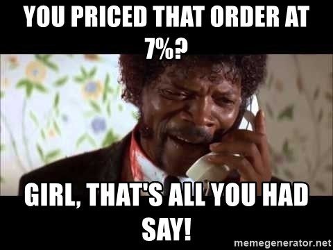 Pulp Fiction sending the Wolf - You priced that order at 7%? Girl, that's all you had say!