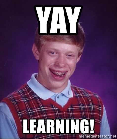 Yay Learning Bad Luck Brian Meme Generator Caption memes or upload your own images to make custom memes. yay learning bad luck brian meme