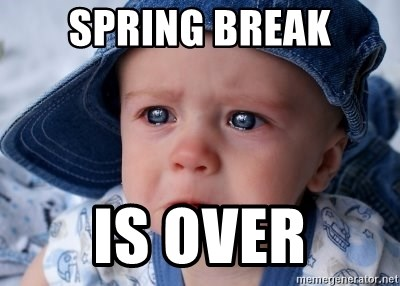 Image result for spring break over