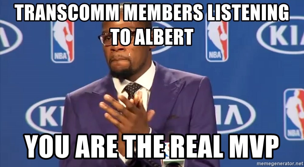 KD you the real mvp f - Transcomm members listening to ALBERT You are the real MVP
