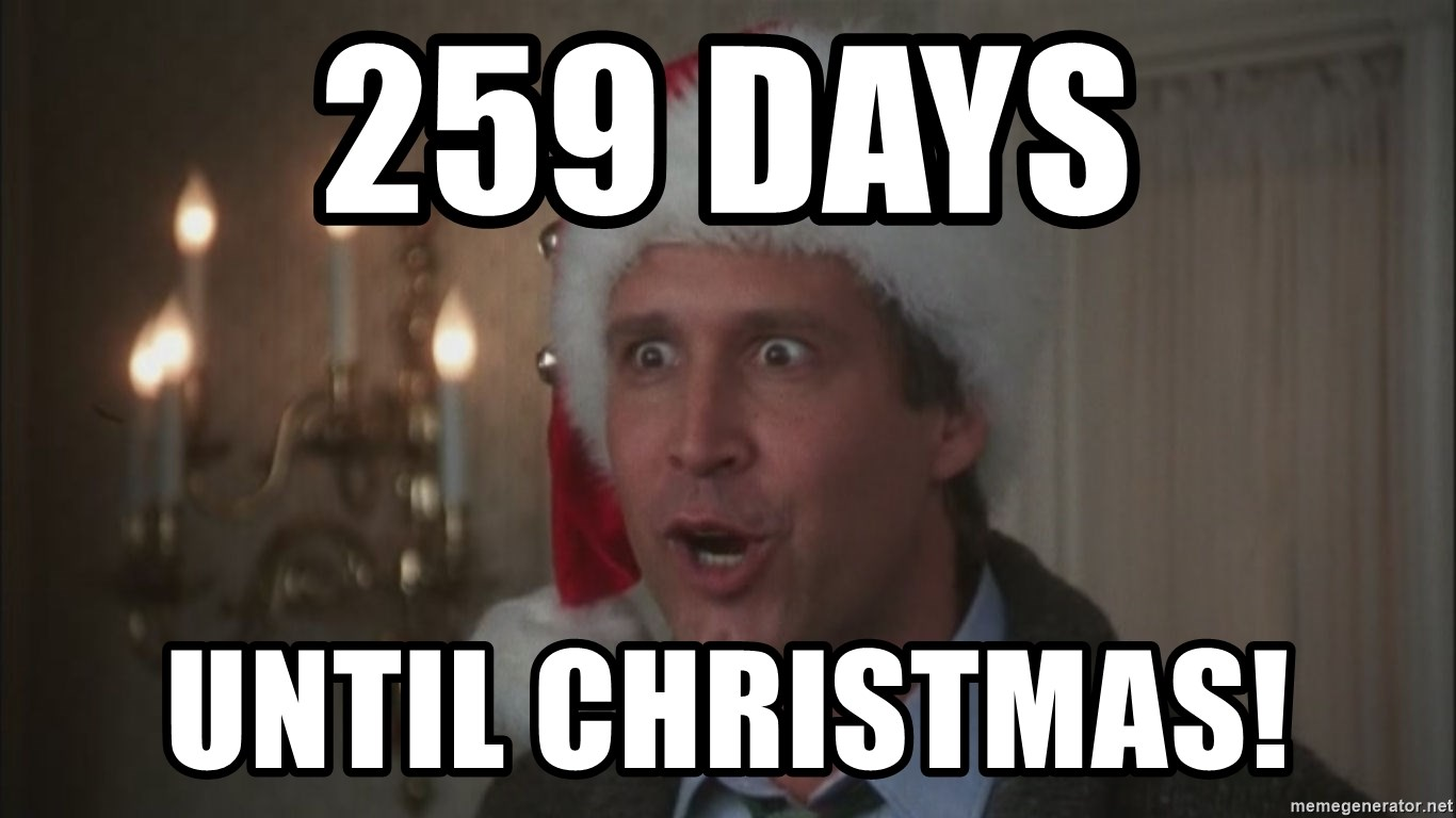 Days Till Christmas Meme.259 Days Until Christmas Chevy Chase Christmas Meme