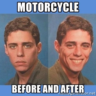 Chico Xavequeiro - MOTORCYCLE  BEFORE AND AFTER