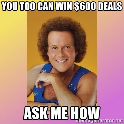 Richard Simmons - You Too Can Win $600 Deals Ask me how