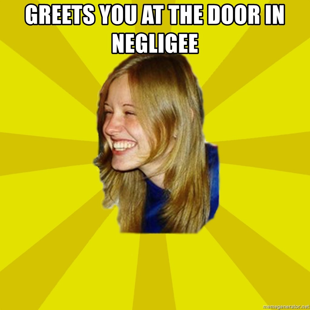 Trologirl - greets you at the door in negligee