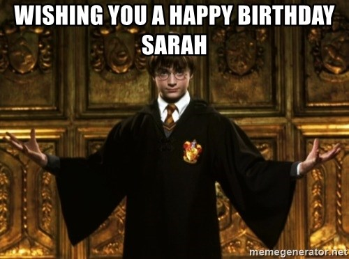 Wishing You A Happy Birthday Sarah