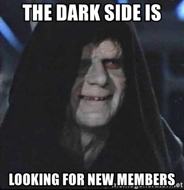 darth sidious mun - the dark side is looking for new members