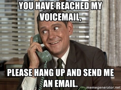 Dick York green telephone - you have reached my voicemail, please hang up and send me an email.