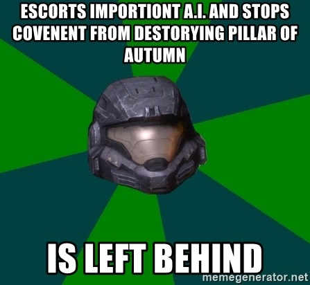 Halo Reach - Escorts importiont a.i. and stops covenent from destorying pillar of autumn Is left behind