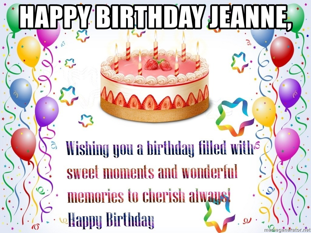 Happy Birthday Jeanne Cake