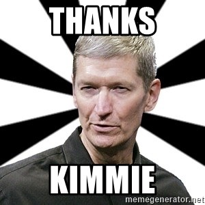 Tim Cook Time - Thanks Kimmie