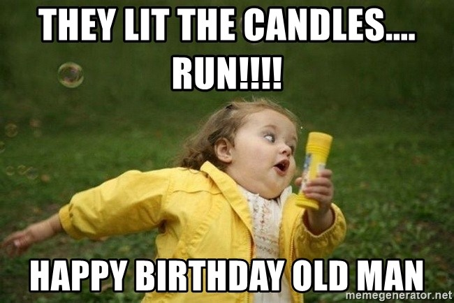 they lit the candles run happy birthday old man little