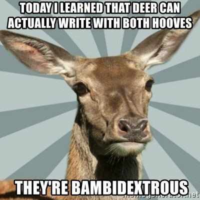 Comox Valley Deer - Today I learned that Deer can actually write with both hooves   They're Bambidextrous