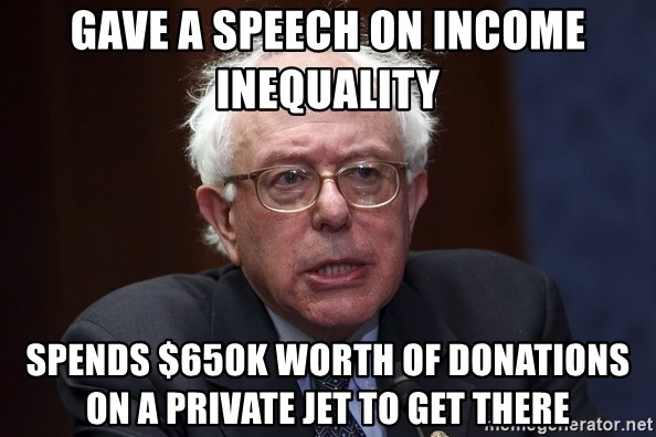 Image result for bernie sanders net worth meme