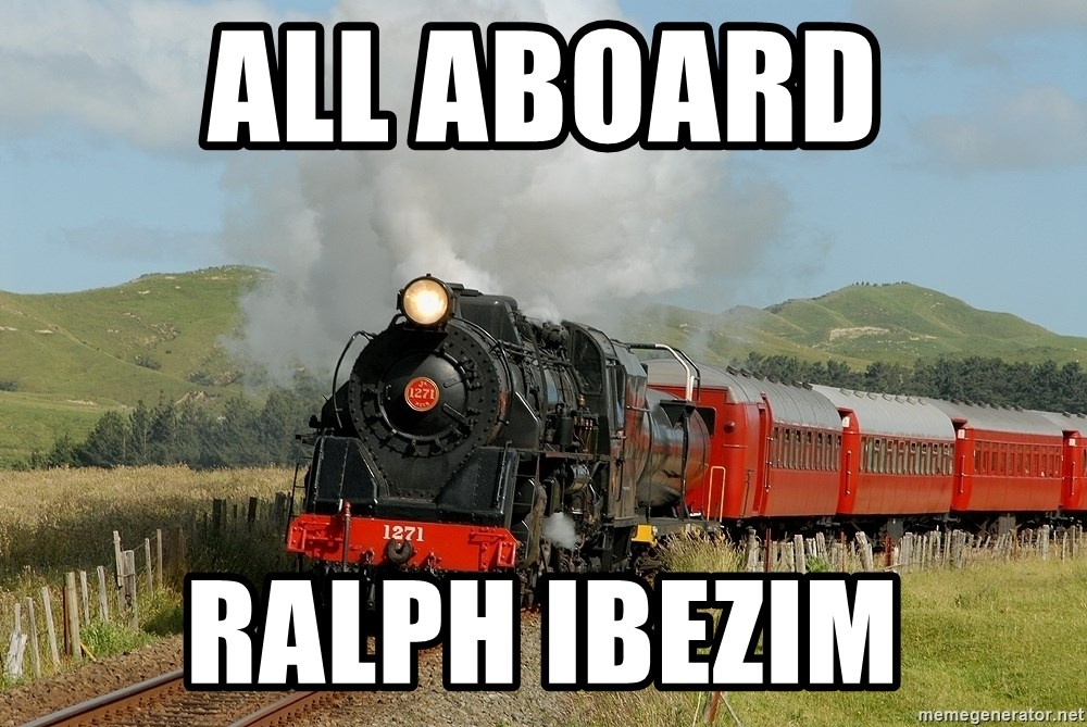 Success Train - all aboard ralph ibezim