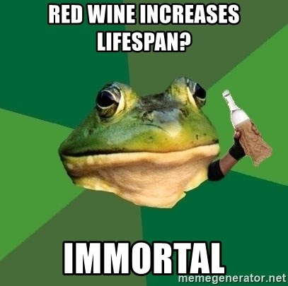 Foul Bachelor Frog (Alcoholic Anon) - Red Wine Increases Lifespan? immortal