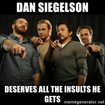 avengers pointing - dan siegelson deserves all the insults he gets