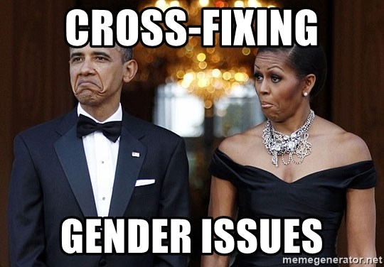 Funny Barack Obama and Michelle Obama - Cross-fixing gender issues