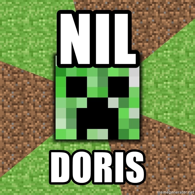 Minecraft Creeper - nil doris