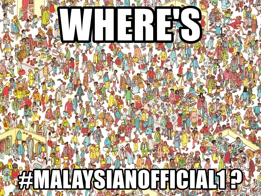 wheres waldo crowd - WHere's #MalaysianOfficial1 ?