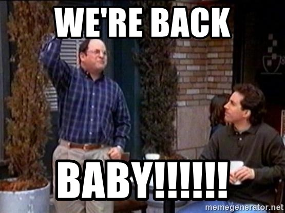Summer of George - we're back baby!!!!!!