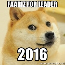 Dogeeeee - faariz for leader 2016