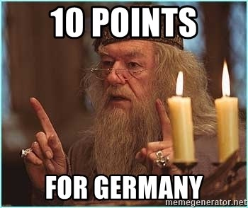 dumbledore fingers - 10 points for germany