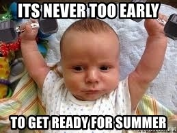 Workout baby - its never too early to get ready for summer