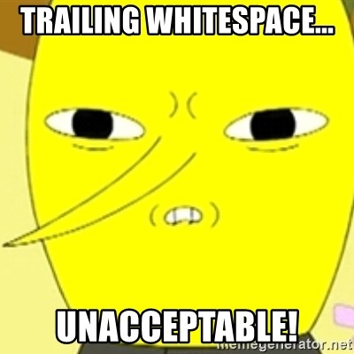 LEMONGRAB - Trailing Whitespace... Unacceptable!