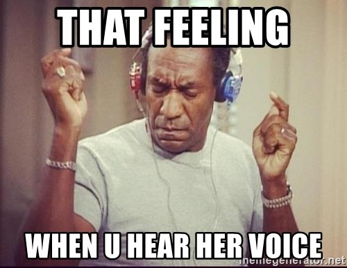 That Feeling When U Hear Her Voice Bill Cosby Headphones Meme