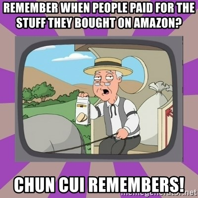 Pepperidge Farm Remembers FG - Remember when people paid for the stuff they bought on Amazon?       Chun Cui remembers!