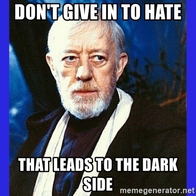 Image result for don't give in to the dark side meme