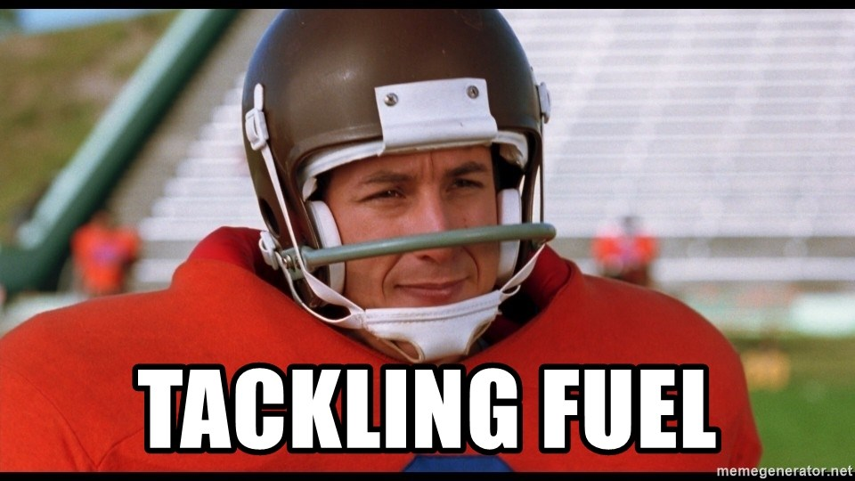 Waterboy Adam Sandler - Tackling Fuel