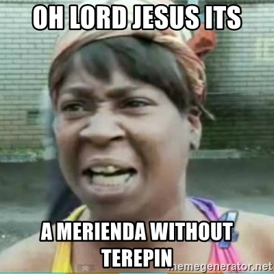 Sweet Brown Meme - Oh Lord Jesus Its a merienda without terepin
